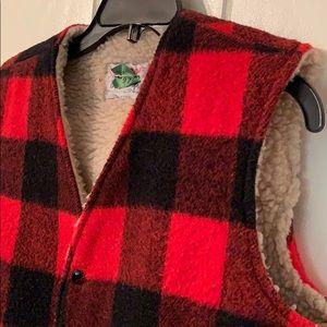Vintage Jackets & Coats - Vtg 70s Storm Rider red & black checked vest